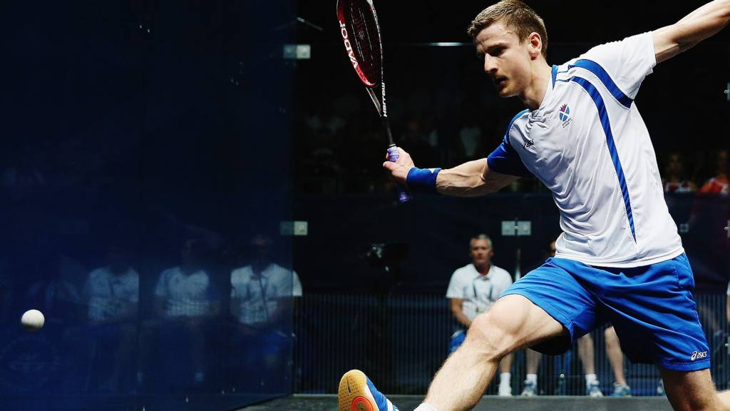 Scotland's Alan Clyne in action at Glasgow 2014