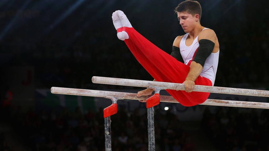 England's Max Whitlock performs at Glasgow 2014