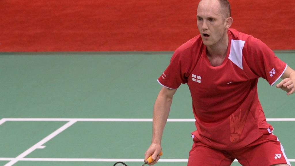 Andrew Ellis of England in action