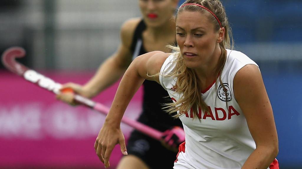 Breinne Stairs of Canada in action during the Women's preliminaries