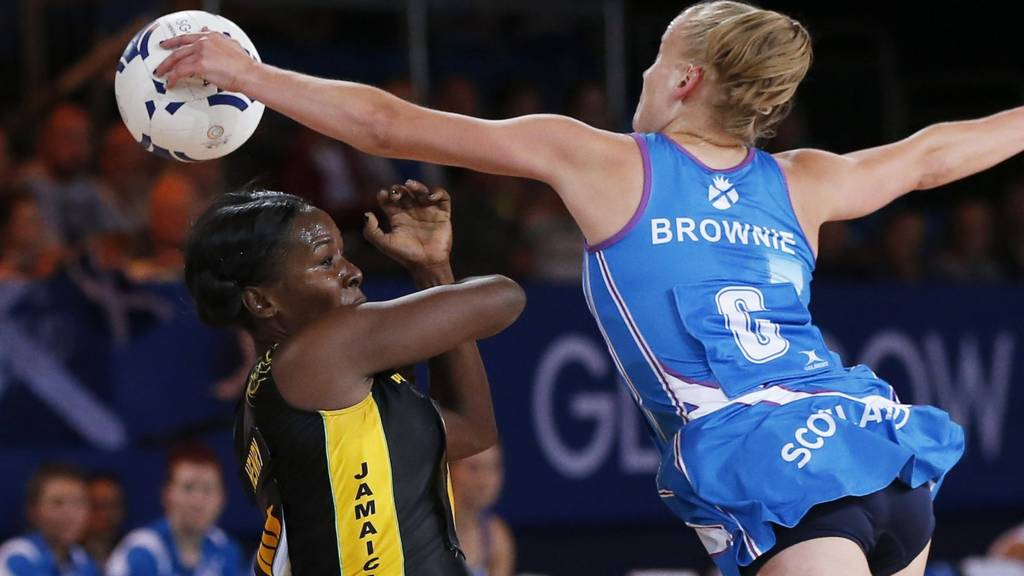 Claire Brownie of the Scottish netball team