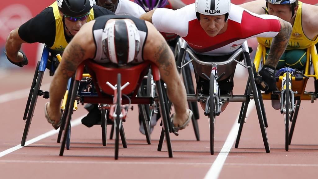 David Weir competes at Glasgow 2014