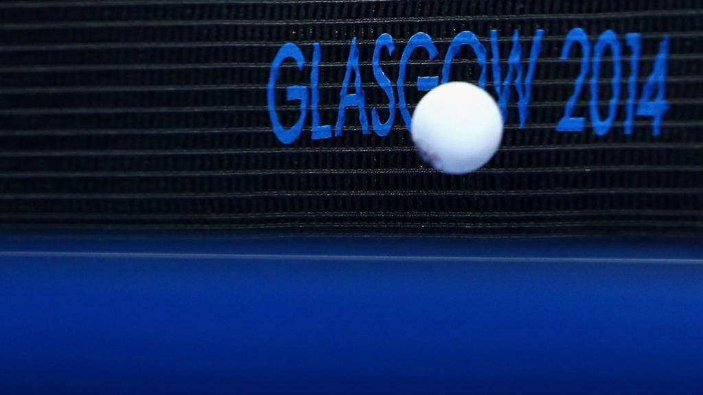 Table tennis action from Glasgow 2014