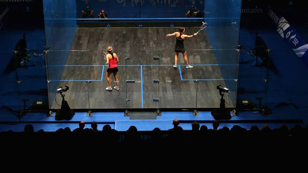 Squash action from Glasgow 2014 Commonwealth Games