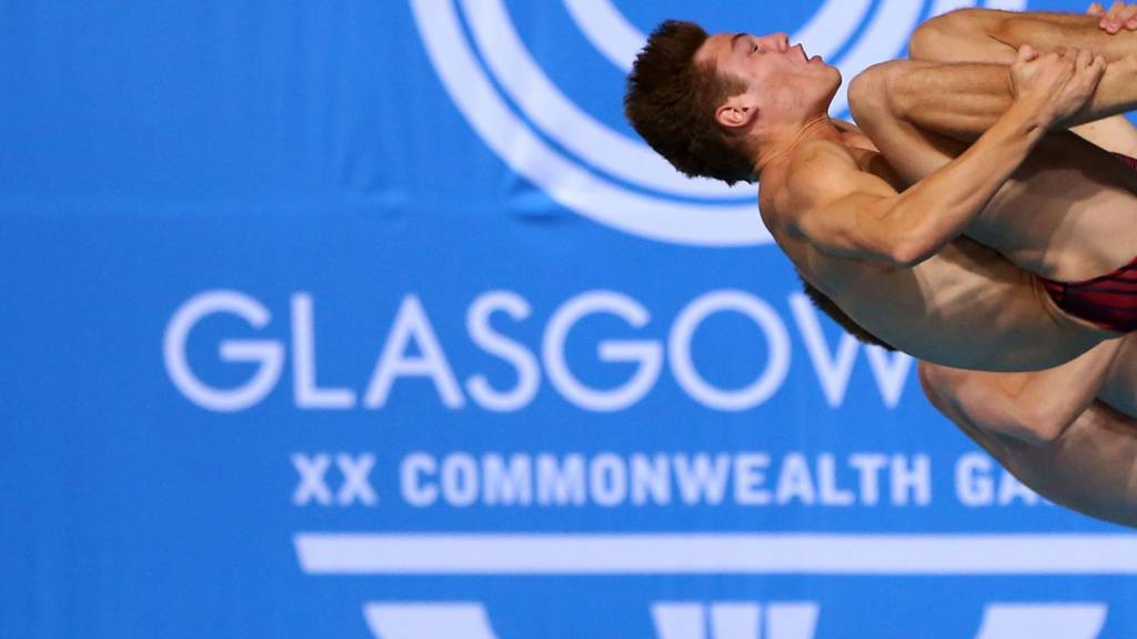 Tom Daley at the Glasgow Commonwealth Games