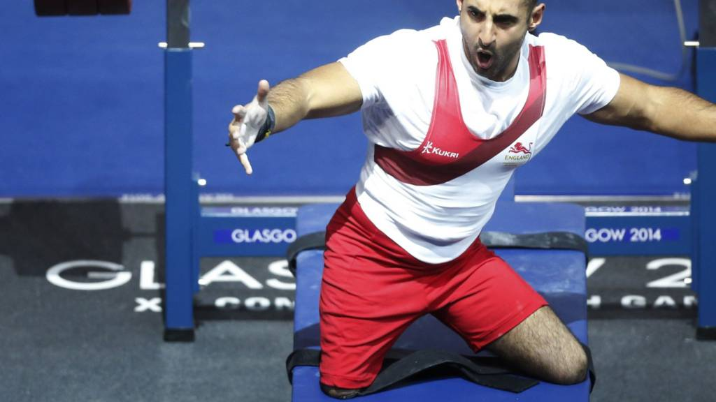 Ali Jawad in action for England