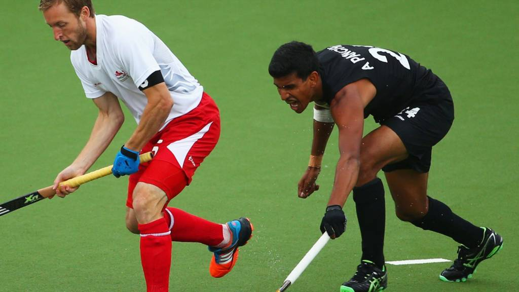 Barry Middleton of England's hockey team at Glasgow 2014