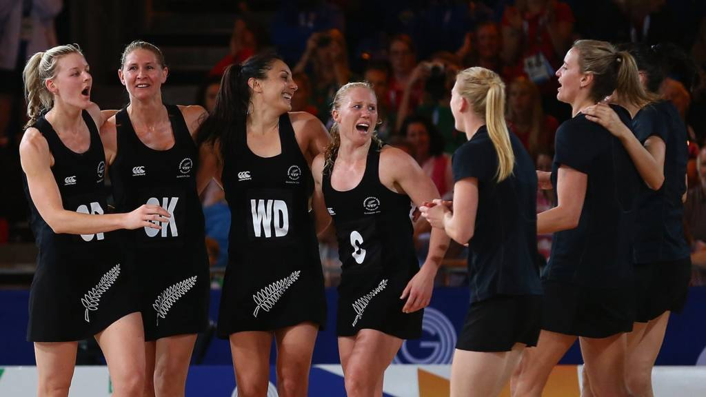 New Zealand netball team at Glasgow 2014