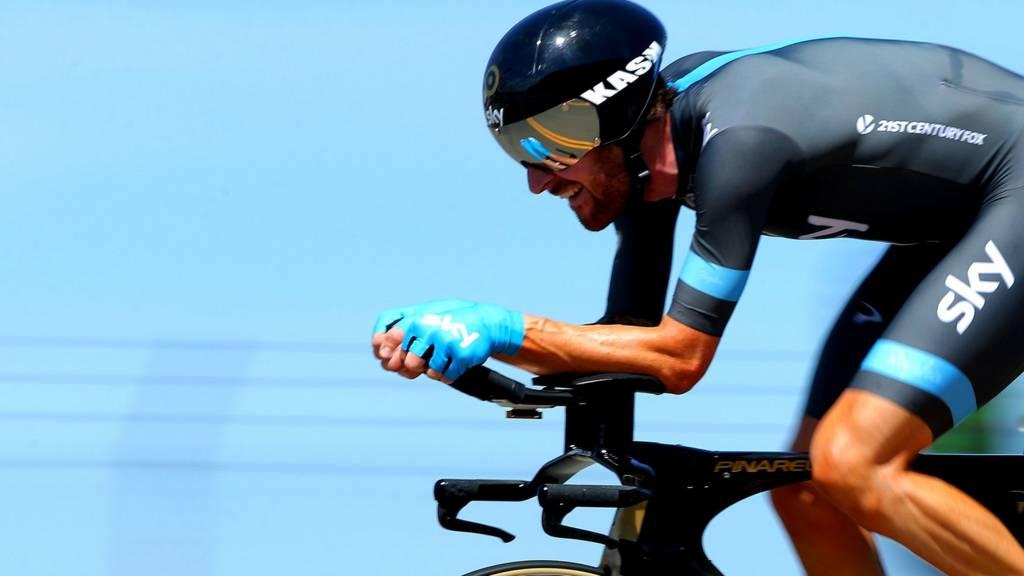 Bradley Wiggins riding for Team Sky