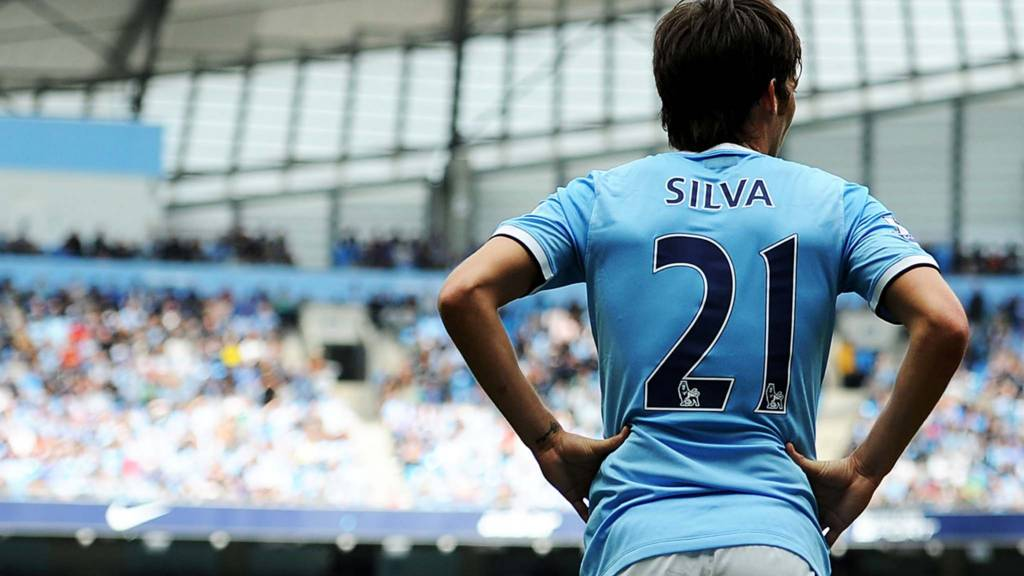 David Silva at the Etihad Stadium