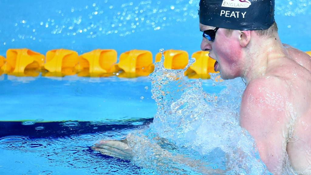 Adam Peaty at the Commonwealth Games in Glasgow