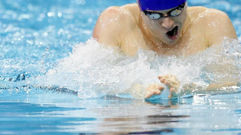 Roberto Pavoni competes in 200m IM