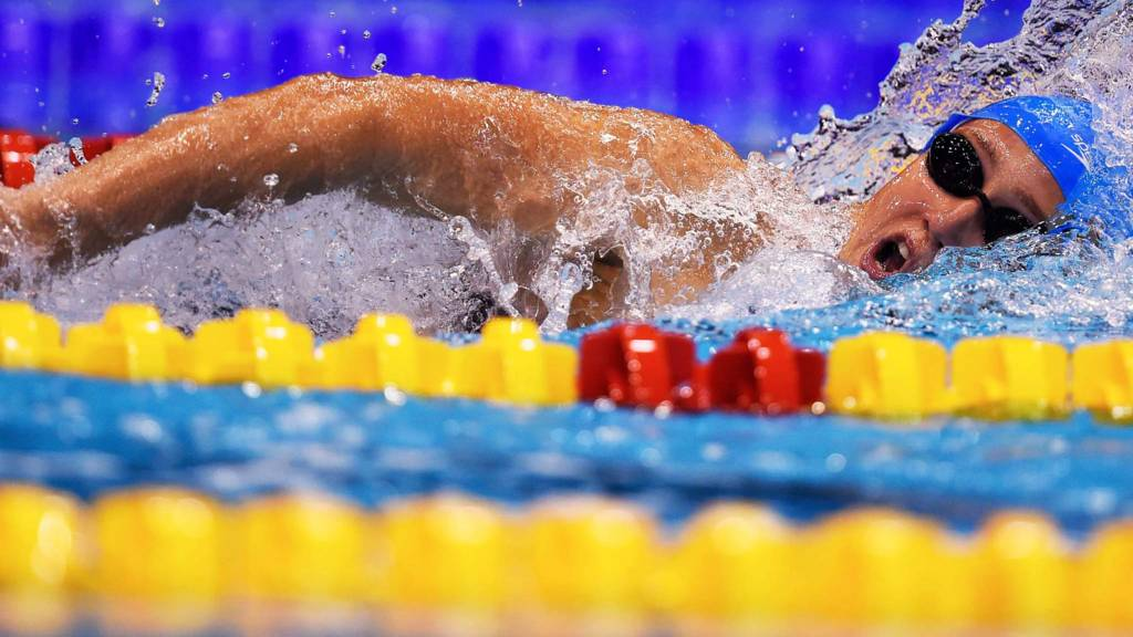 Great Britains Jazmin Carlin competes in the women's 800m Freestyle final