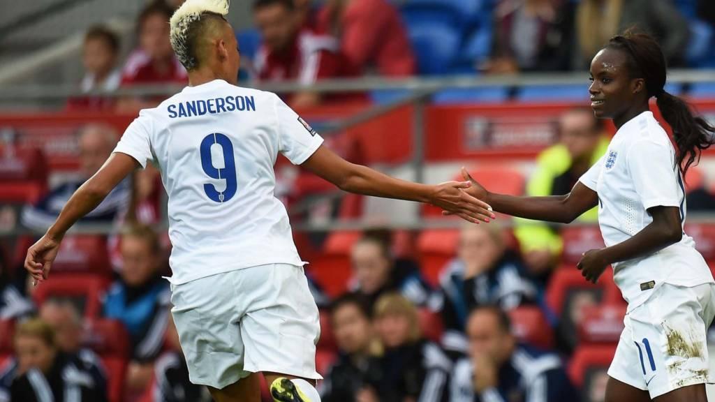 England players celebrate