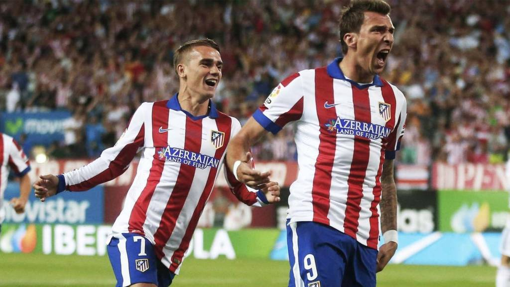 Atletico Madrids Mario Mandzukic Celebrates His Goal