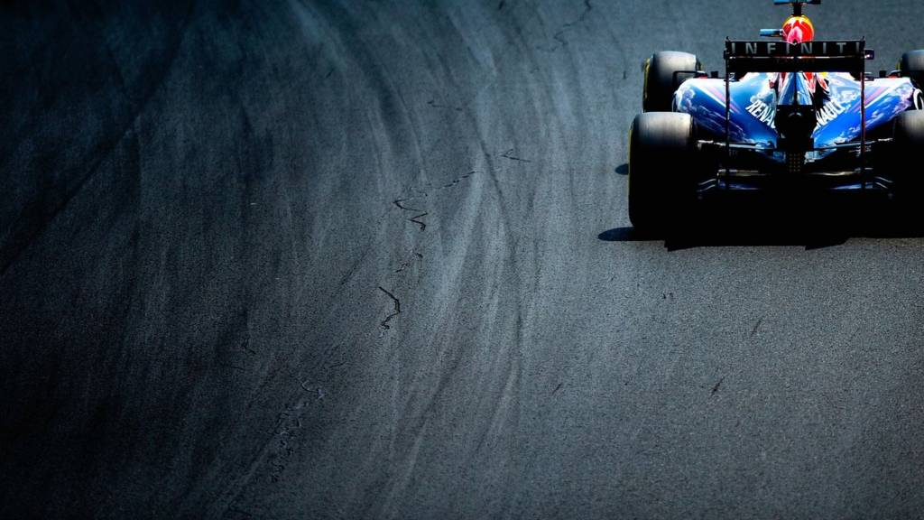 Sebastian Vettel of Germany in action during the 2014 Formula One Championship