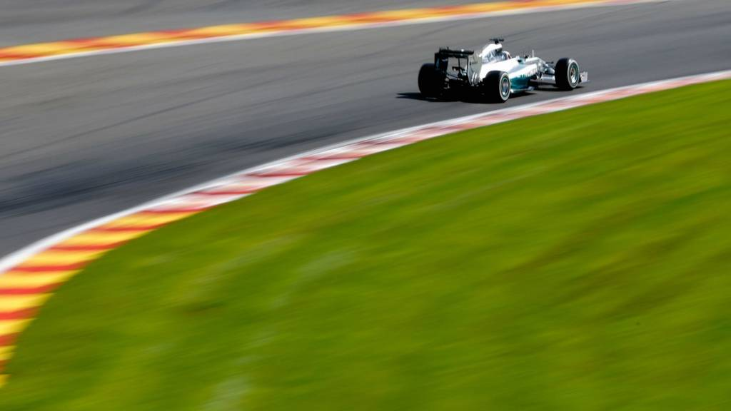 Lewis Hamilton of Great Britain in action during the 2014 Formula One Championship