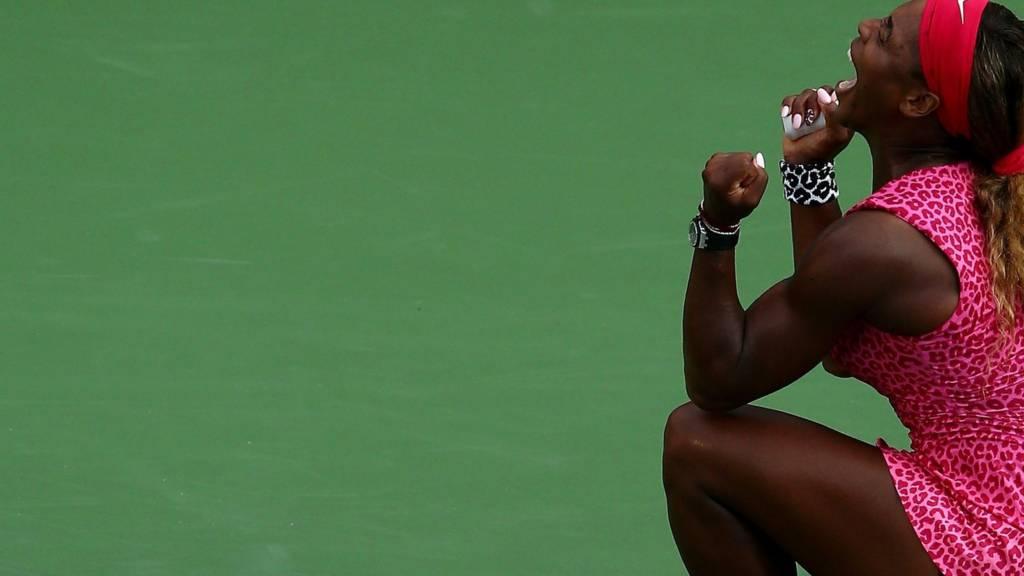Serena Williams of the United States celebrates