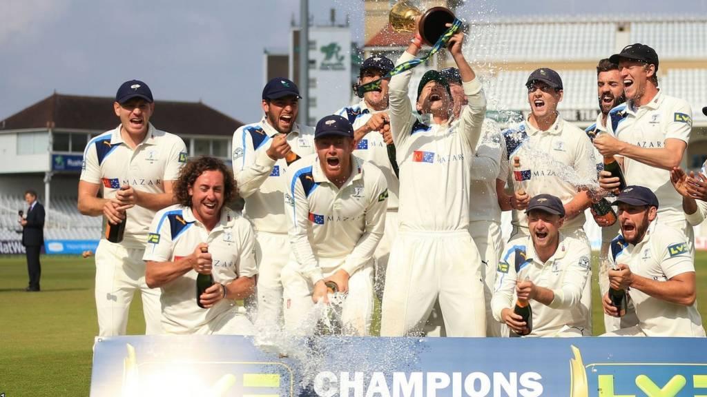 Yorkshire players celebrate