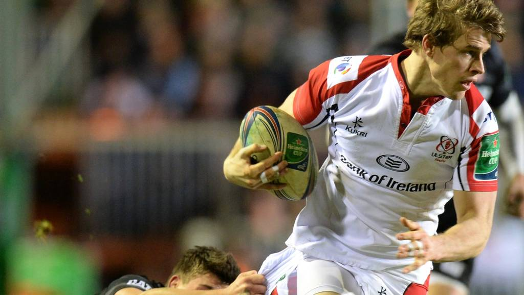 Andrew Trimble of Ulster runs with the ball