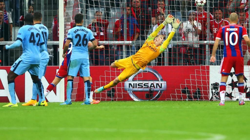 Joe Hart is beaten by Boateng's shot