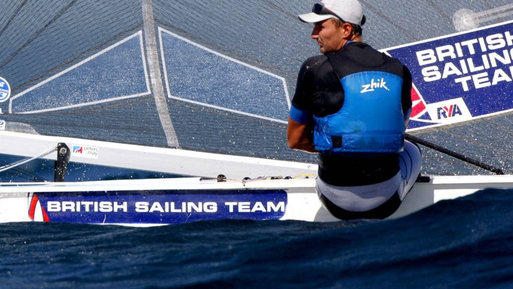 British sailor Giles Scott competes in the men's Finn event