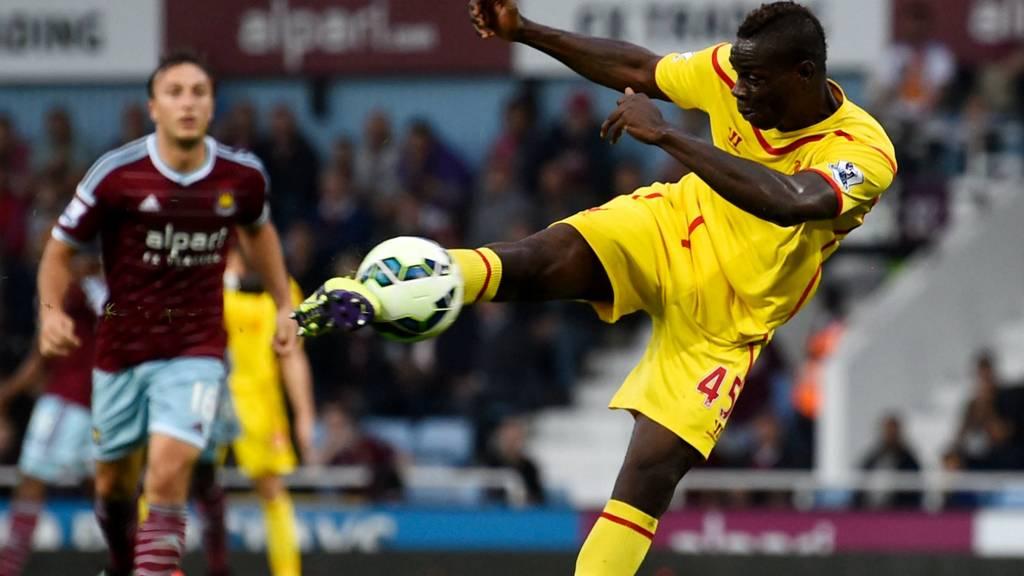 Mario Balotelli strikes the ball