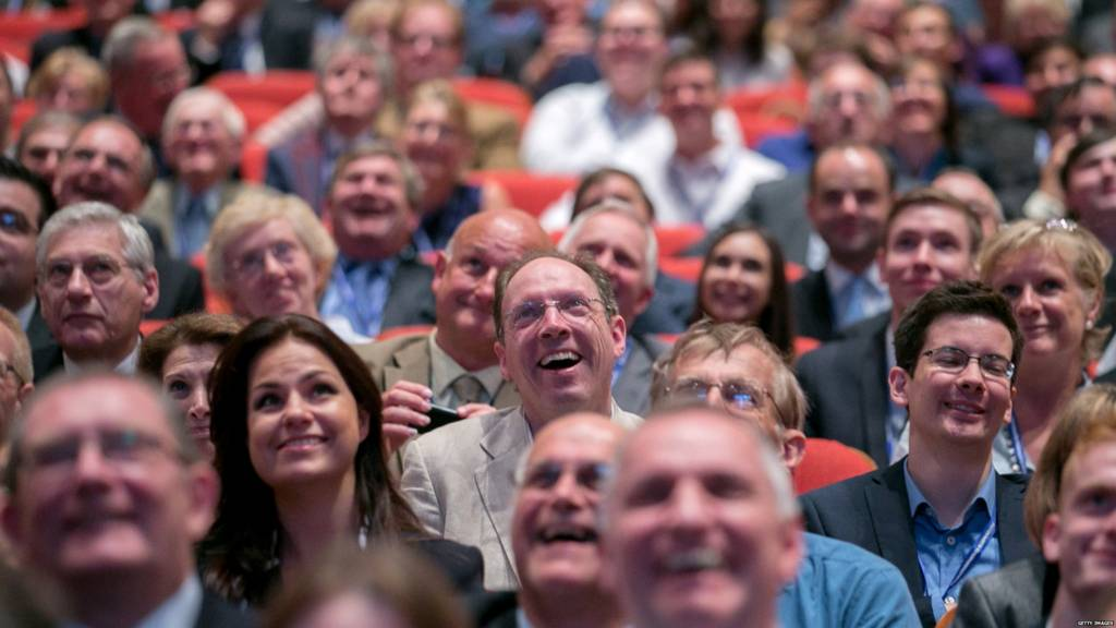 The audience at Conservative Party conference