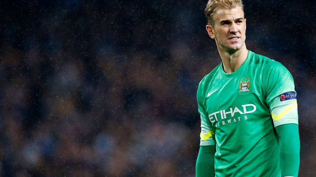 Manchester City keeper Joe Hart at full-time