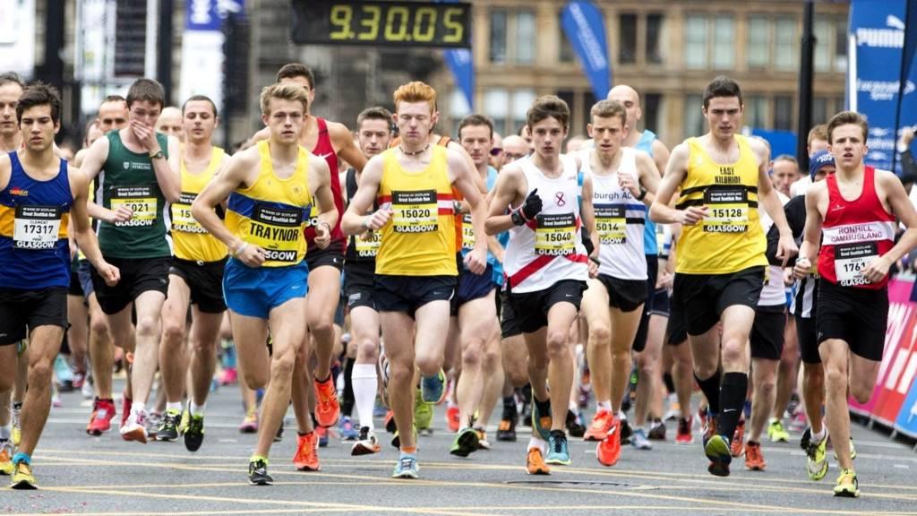 Mass start of the Bank of Scotland Great Scottish Run