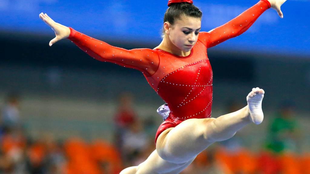 British gymnast Claudia Fragapane at the World Artistic Gymnastics Championships