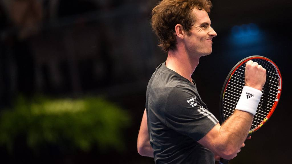 Andy Murray fist pumps