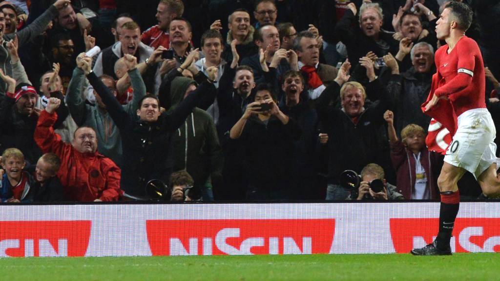 Robin van Persie celebrates