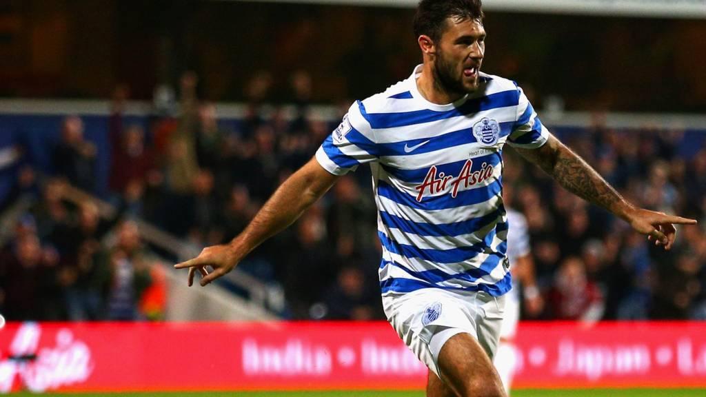 QPR's Charlie Austin celebrates