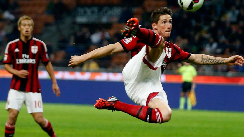 AC Milan striker Fernando Torres