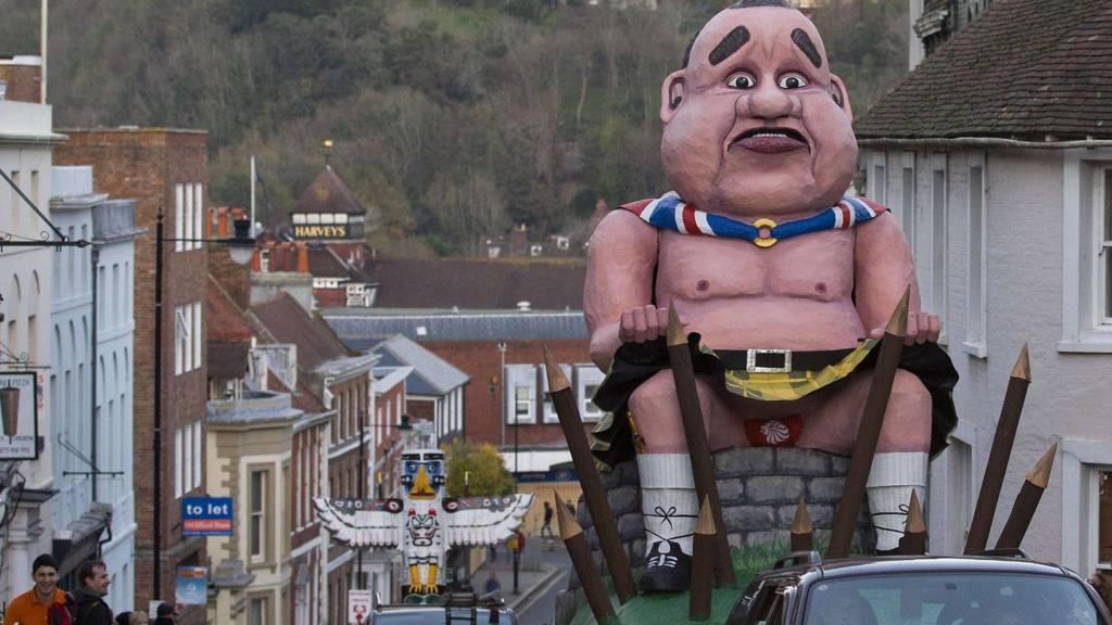 Alex Salmond effigy