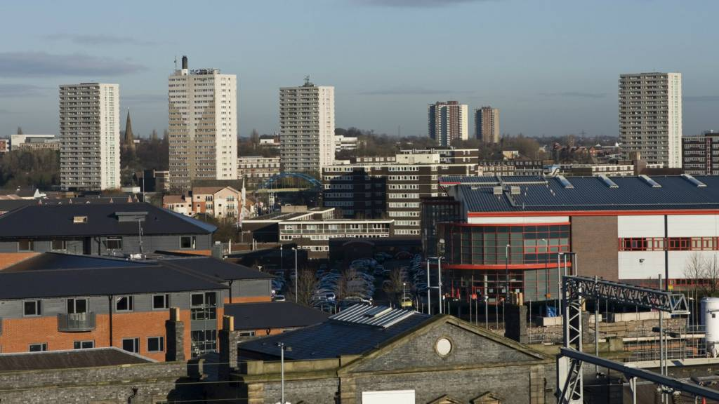 Wolverhampton: Skyline of Heath Town and Wednesfield