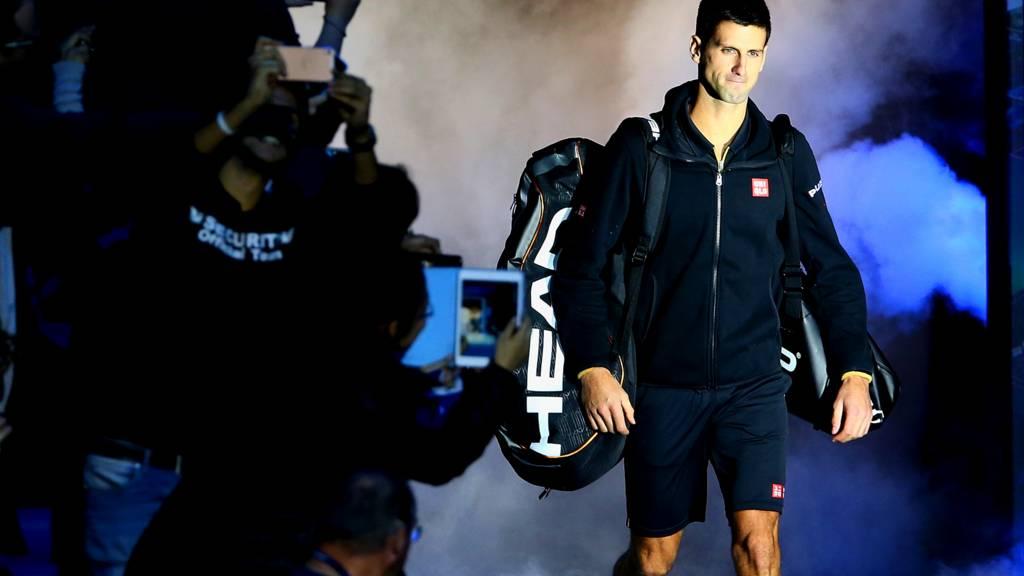 World number one Novak Djokovic at the ATP World Tour Finals