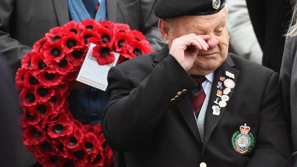 Former Royal Engineer Robert Mackenzie in Edinburgh on Armistice Day
