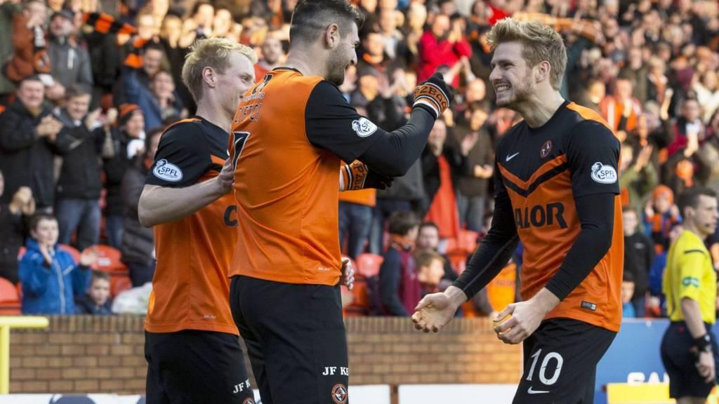 Dundee United are ahead against Kilmarnock