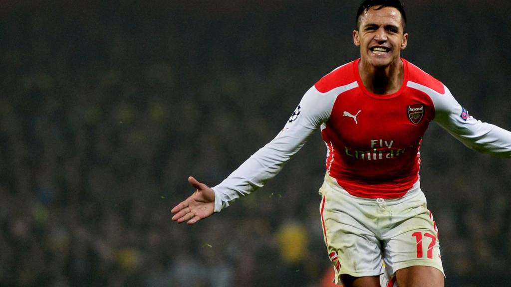 Arsenal's Alexis Sanchez celebrates