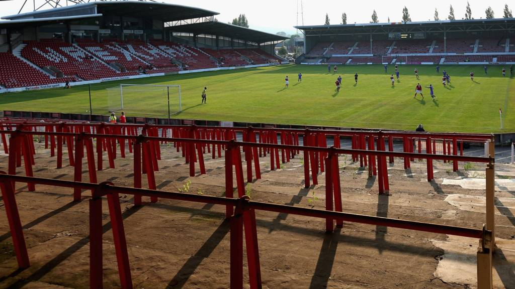 Wrexham's Racecourse Ground during a match