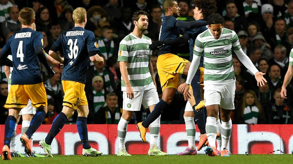 Celtic trail 2-1 at half-time