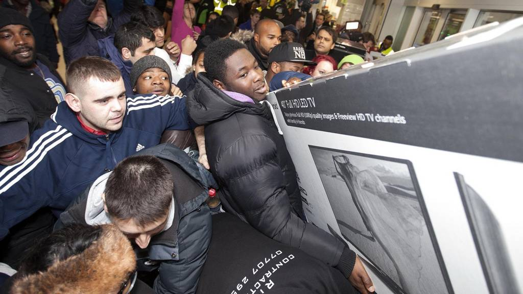 Shoppers at Asda in Wembley