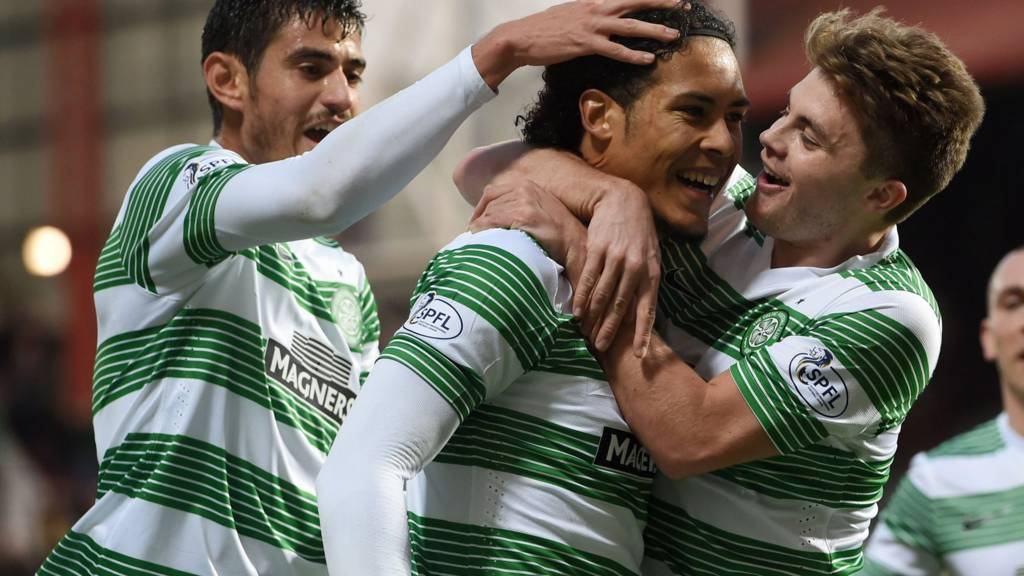 Virgil van Dijk was on target for Celtic