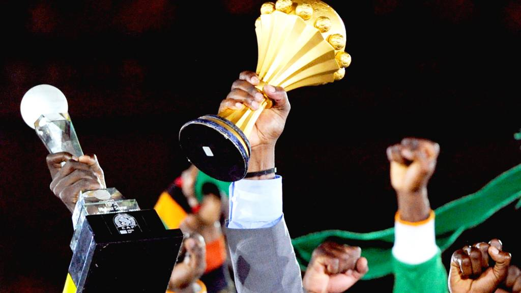 Nigeria lift the African Cup of Nations trophy in 2013