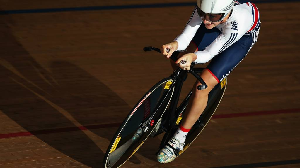 Laura Trott at the Track Cycling World Cup