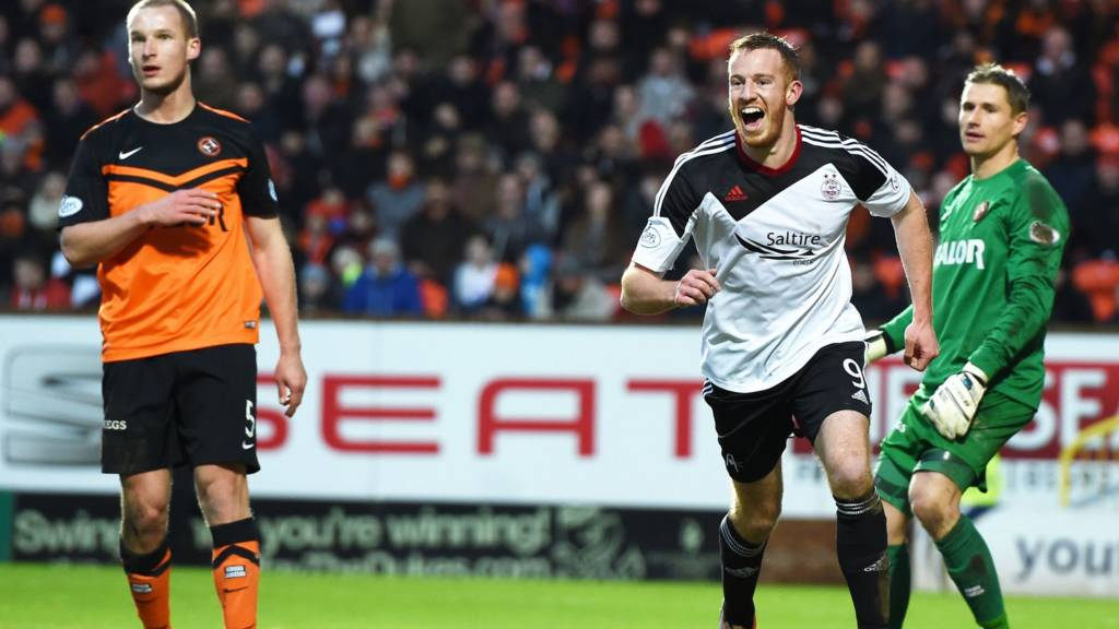 Adam Rooney fires Aberdeen ahead at Tanandice