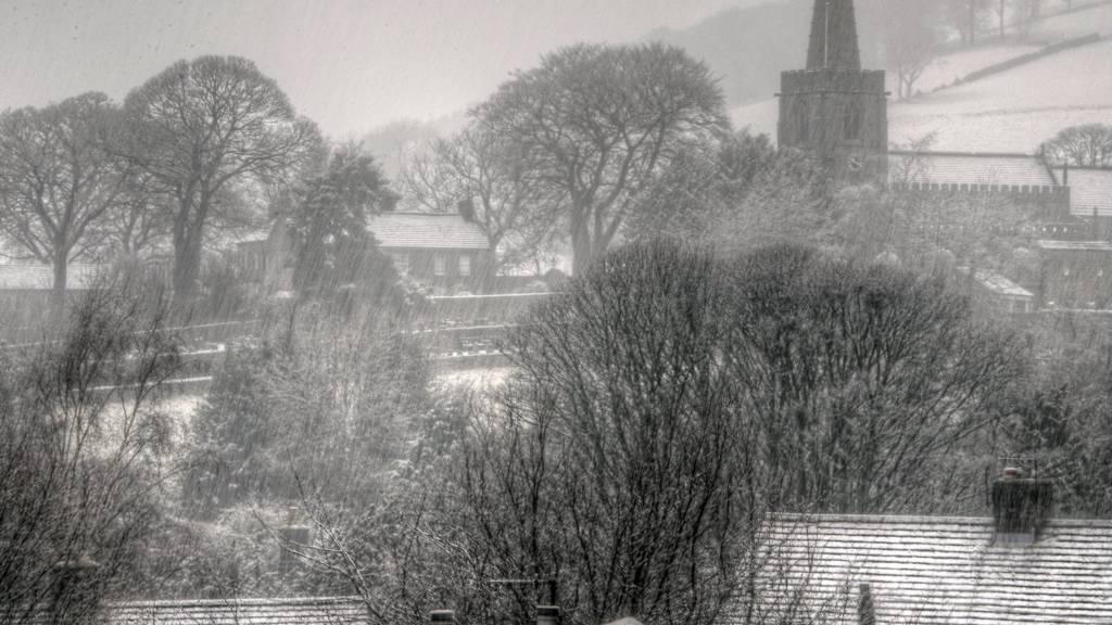 Snowy Hathersage in February 2014