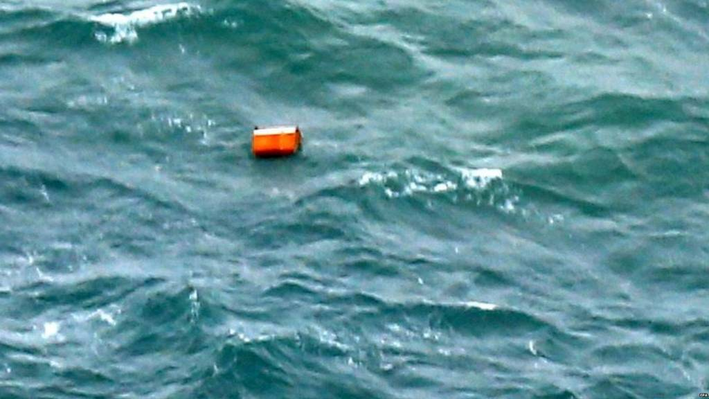 Debris possibly from missing plane at sea (30 Dec 2014)